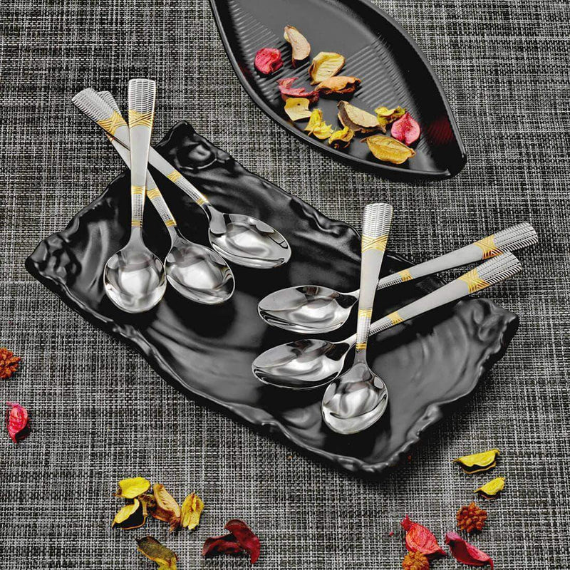Jagdamba Cutlery Pvt Ltd. Cutlery 6 PCS Snack Spoon - Lush