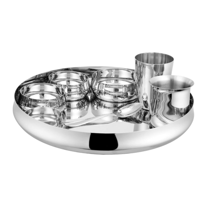 Jagdamba Cutlery Pvt Ltd. Dinner Set Thali Set - Belly - 8 PCS
