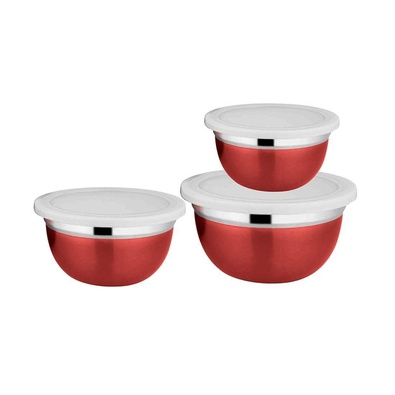 Jagdamba Cutlery Pvt Ltd. Serveware 3 PCS Bowl Set with Lids