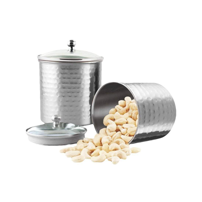 Jagdamba Cutlery Pvt Ltd. Serveware Candy Hammered Storage Canister with air tight glass lid