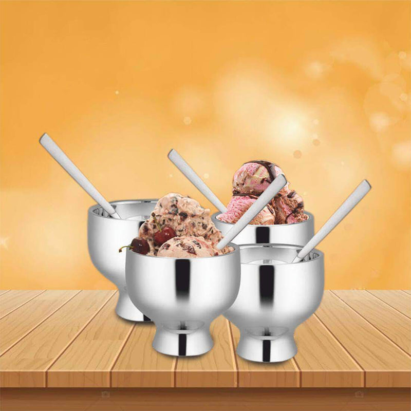 Jagdamba Cutlery Pvt Ltd. Serveware Ice Cream Set of 4 PCS- Forte