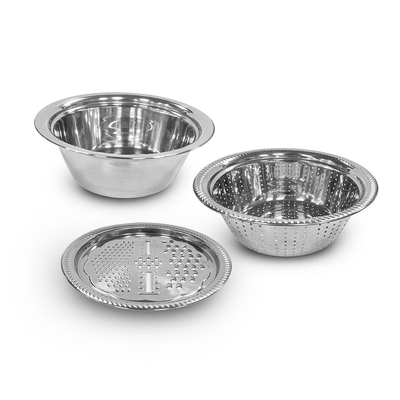 Stainless Steel Multifunctional Basin 3 in 1 ( 26 cm )