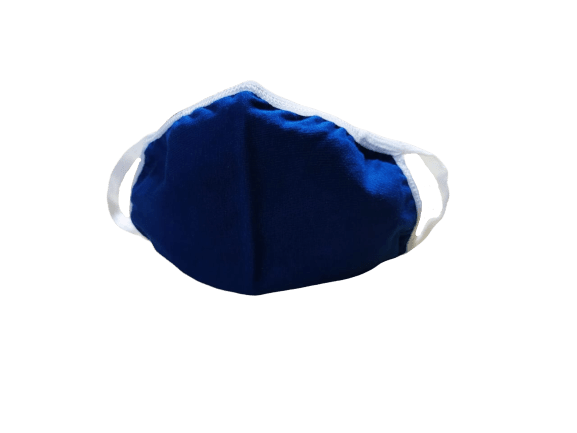 ShriandSam Reusable Cotton 2-Layers Face Mask - Dark Blue