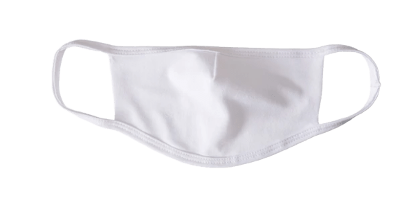 ShriandSam Reusable Cotton 2-Layers Face Mask - White