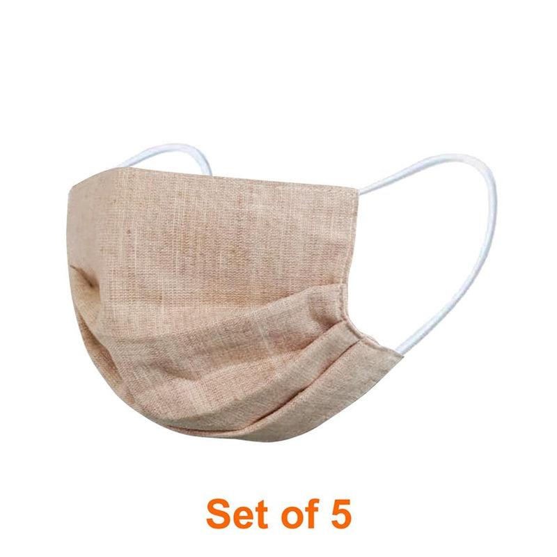 ShriandSam Set of 5 Reusable Washable Khadi Face Mask