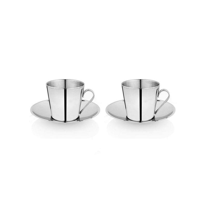 JAGDAMBA CUTLERY LIMITED Serveware 2 PCS Cup and Saucer - V SHAPE