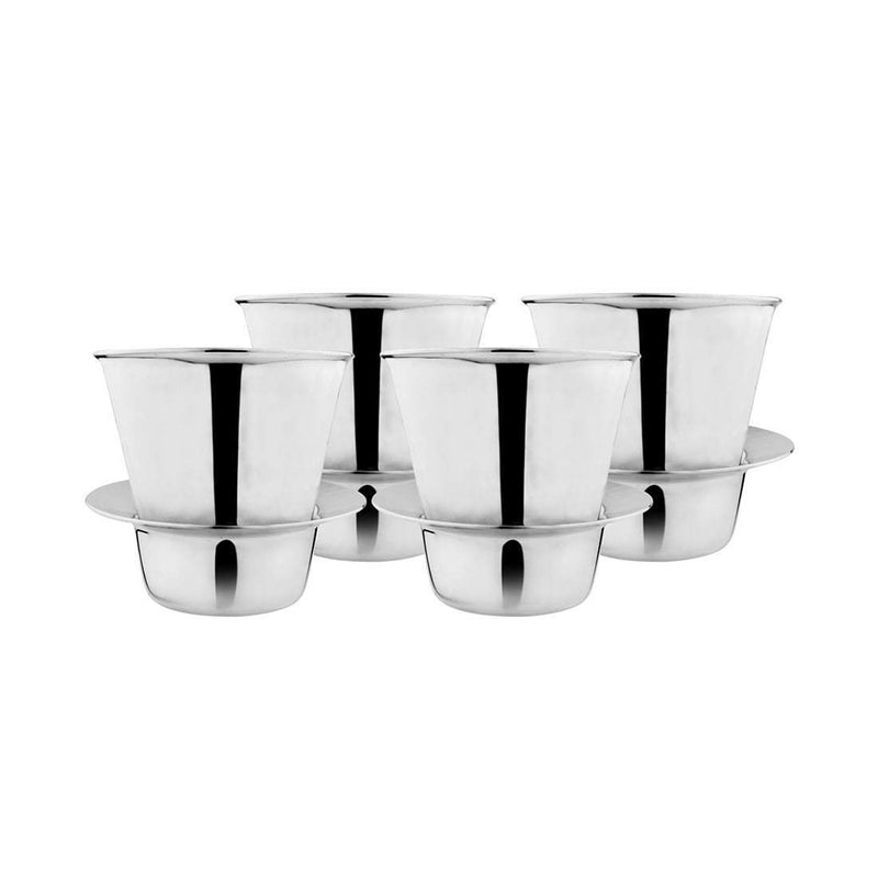 JAGDAMBA CUTLERY LIMITED Serveware 4 PCS Coffee Dabra/Cup Set