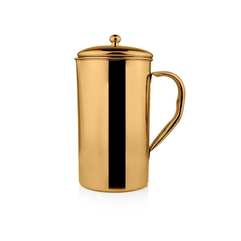 JAGDAMBA CUTLERY LIMITED Serveware Stainless Steel Gold Jug with PVD Coating - Impression
