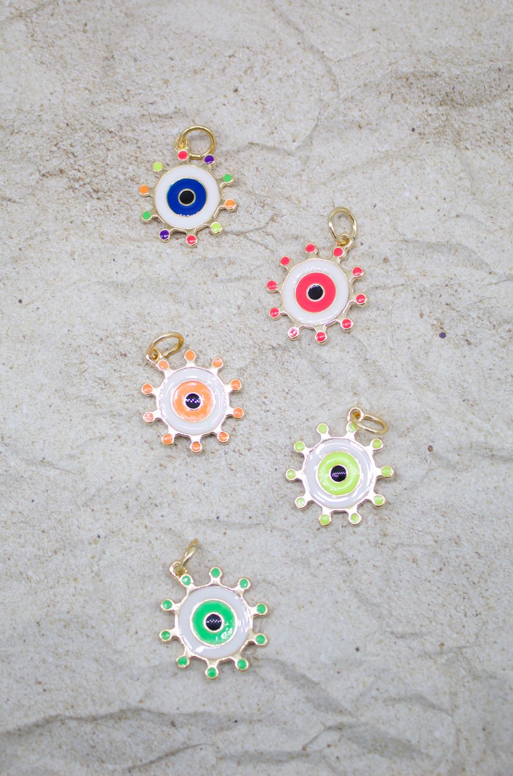 Colorful Evil Eye Necklace Charm