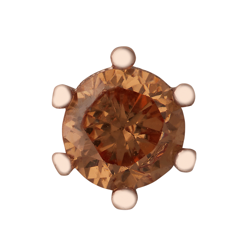 Copper Colored Stone on Rose Gold