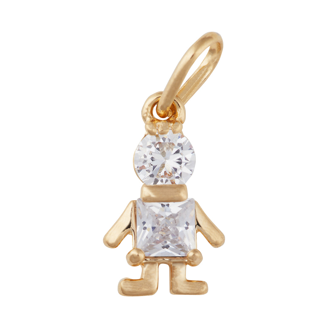 Crystal Boy Hanging Charm