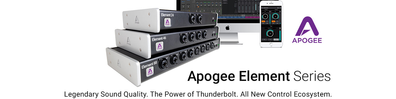 APOGEE ELEMENT AUDIO INTERFACE BANNER