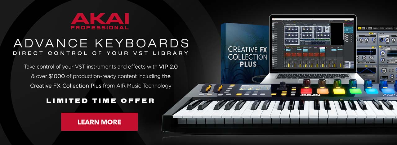 Akai Advance Keyboards Air FX Promotion and VIP 2 0 - Sounds