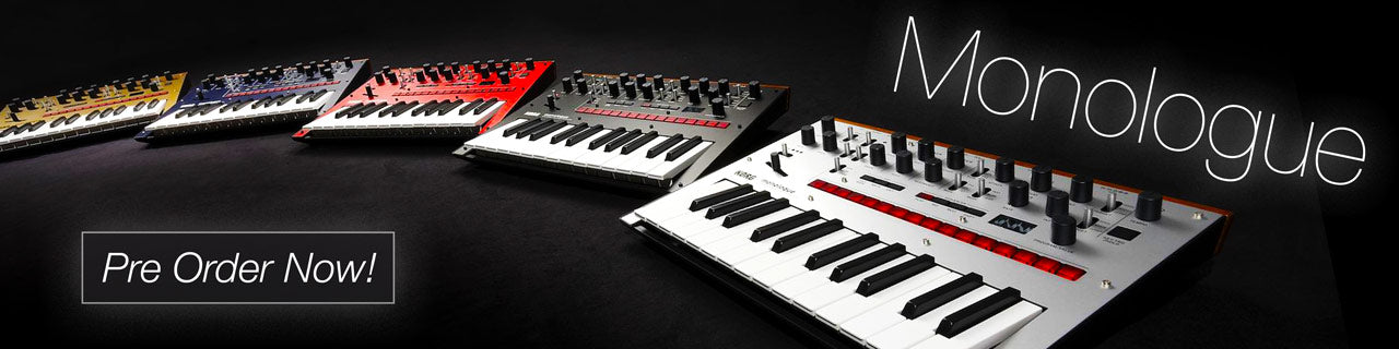 Korg Monologue analog synths - pre order now