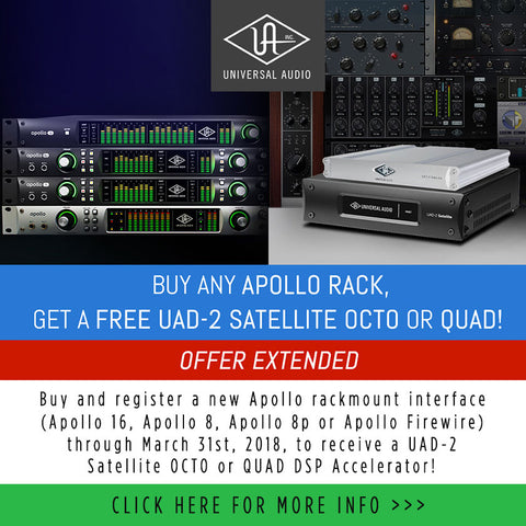 UAD Satellite 2 offer extension march 2018