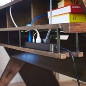 Output Platform Cable Shelf