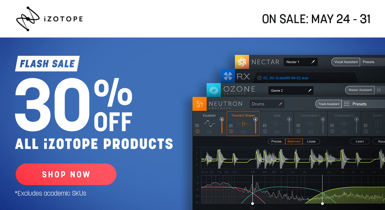 Izotope Flash Sale!