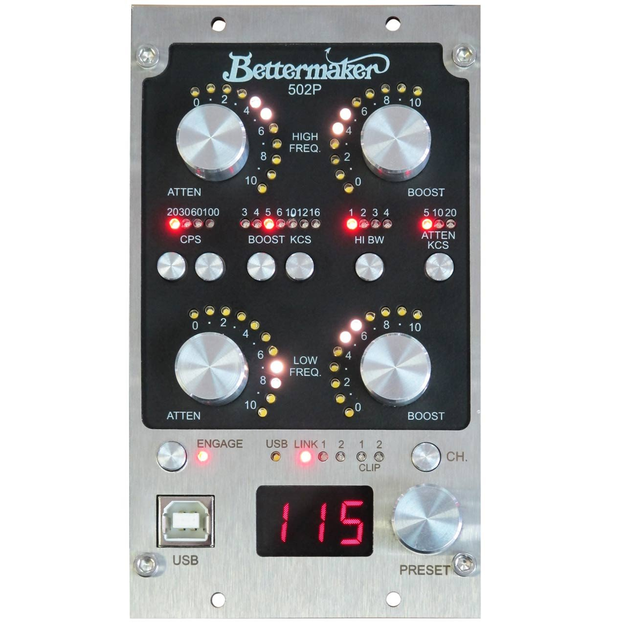 500 Series - Bettermaker EQ 502P - Stereo Analog Passive Equaliser With Plugin Recall In 500 Format.