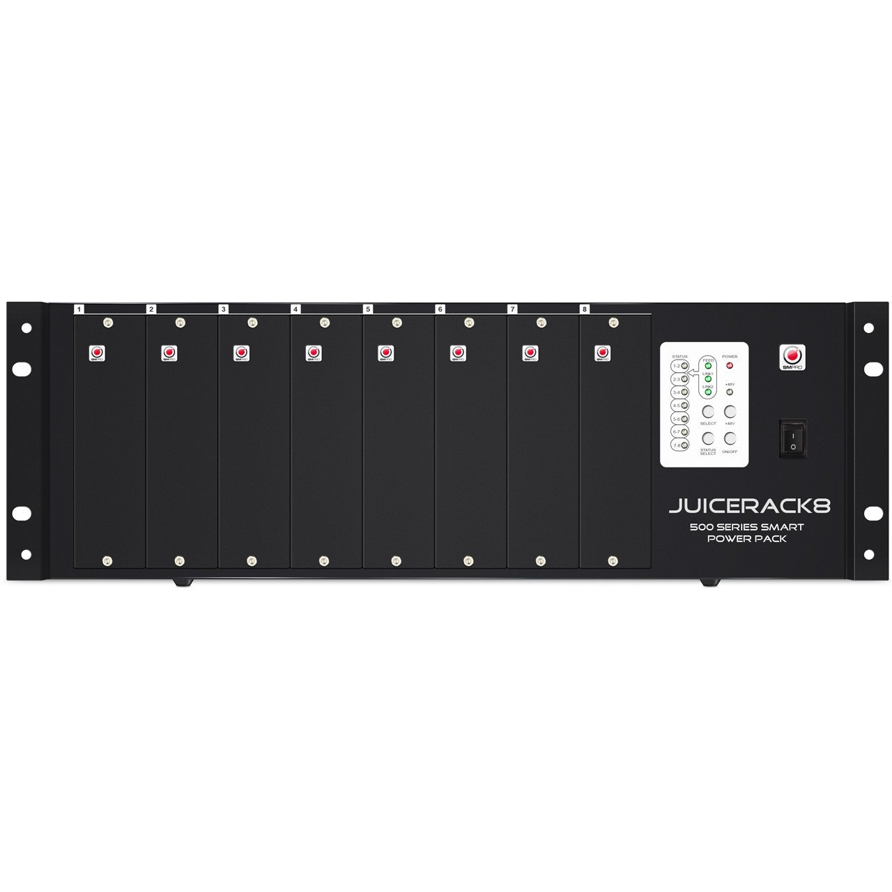 SM Pro Audio JuiceRack 8: 8 Slot 500 Series Power Rack