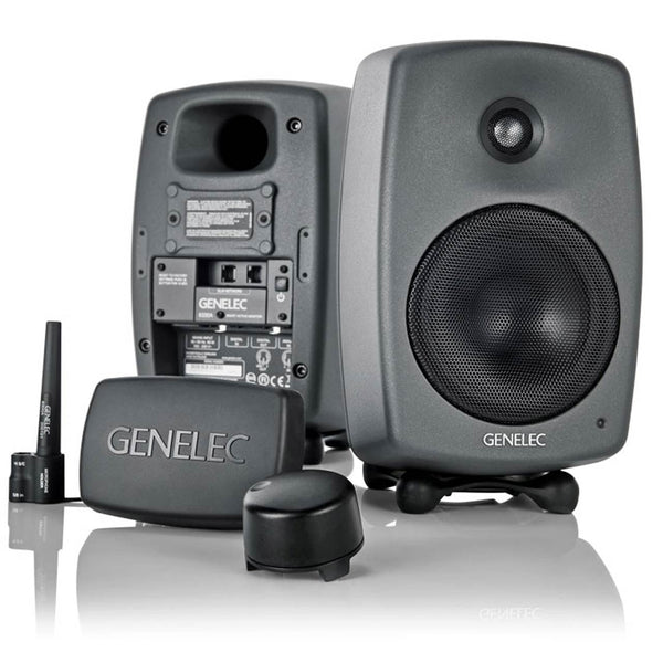 Genelec 8320A SAM Monitors With GLM 2.0 Software Bundle, monitor controller & reference microphone.