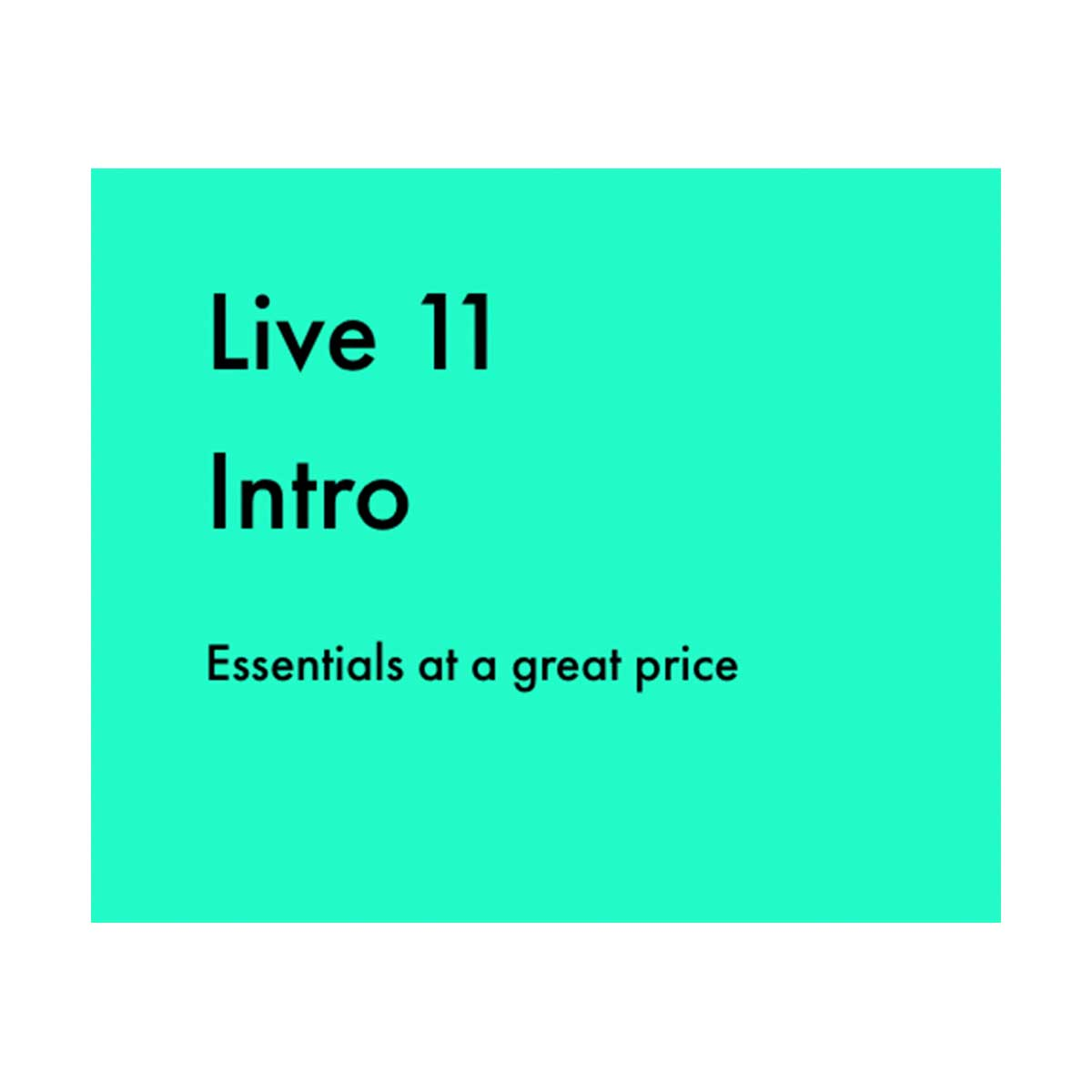 Ableton Live 11 Intro download only code