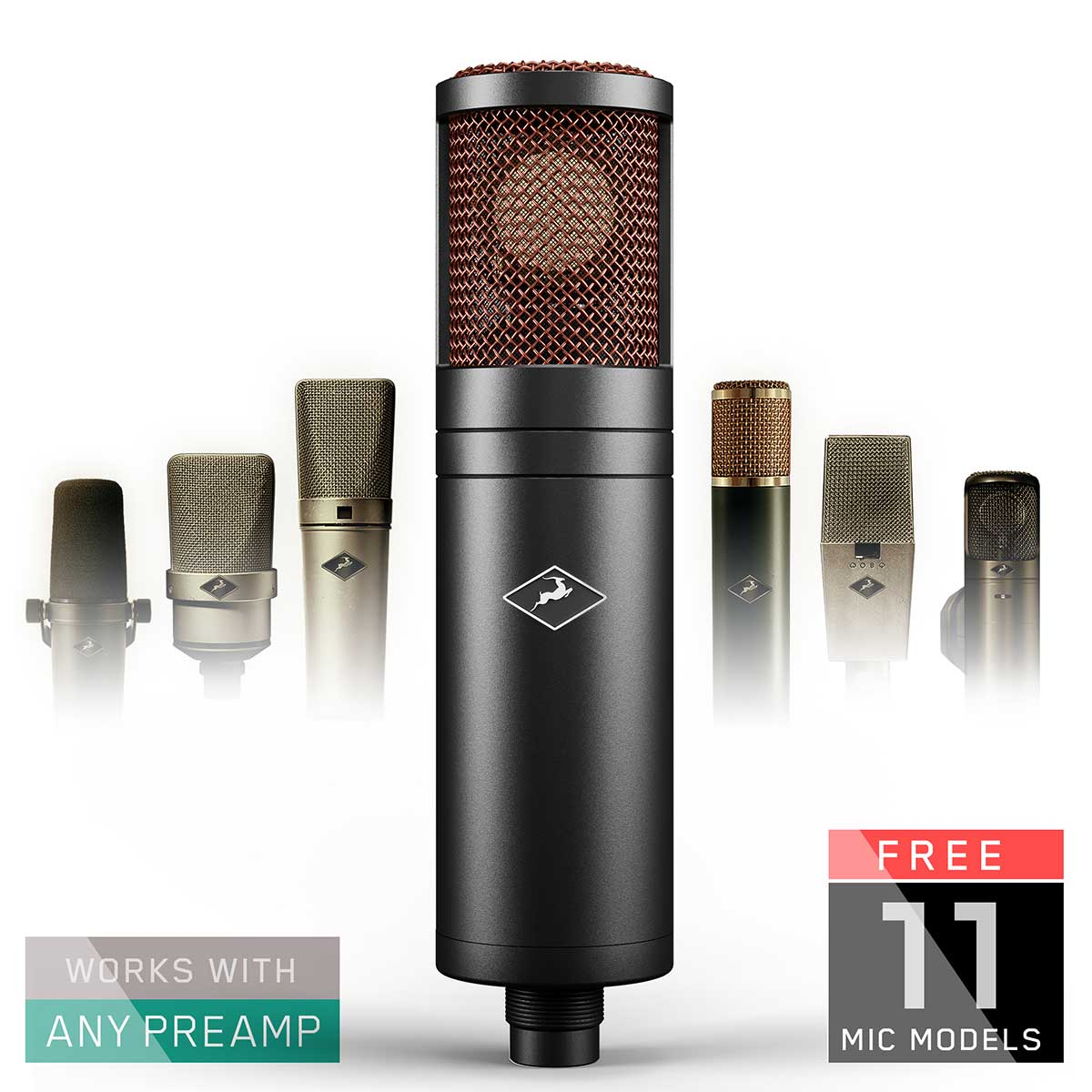 Antelope Edge Duo dual-capsule large-diaphragm condenser microphone with 11 Classic Mic Emulations
