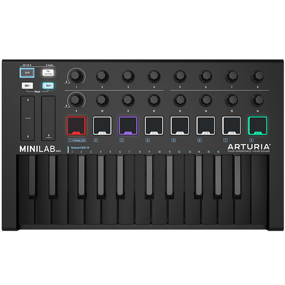 Arturia MiniLab Mk II 25 Key Black Limited Edition MIDI Keyboard