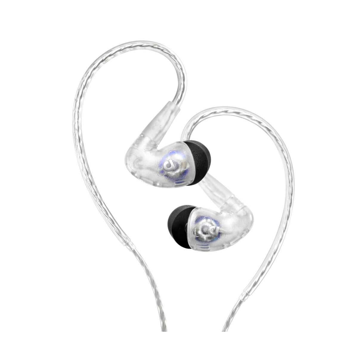Audiofly AF100 Universal In-Ear Monitor w/ fixed cable - Clear