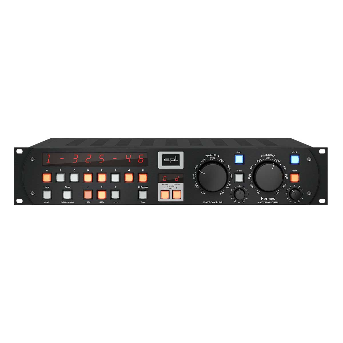 SPL Hermes Mastering Router with dual Parallel Mix - Black