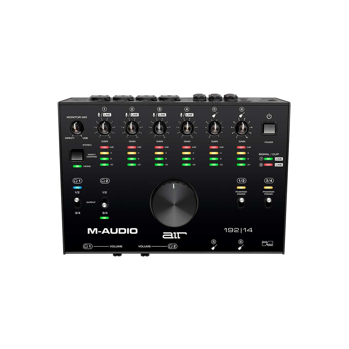 M-Audio AIR 192|14 8-In/4-Out 24/192 USB Audio Interface