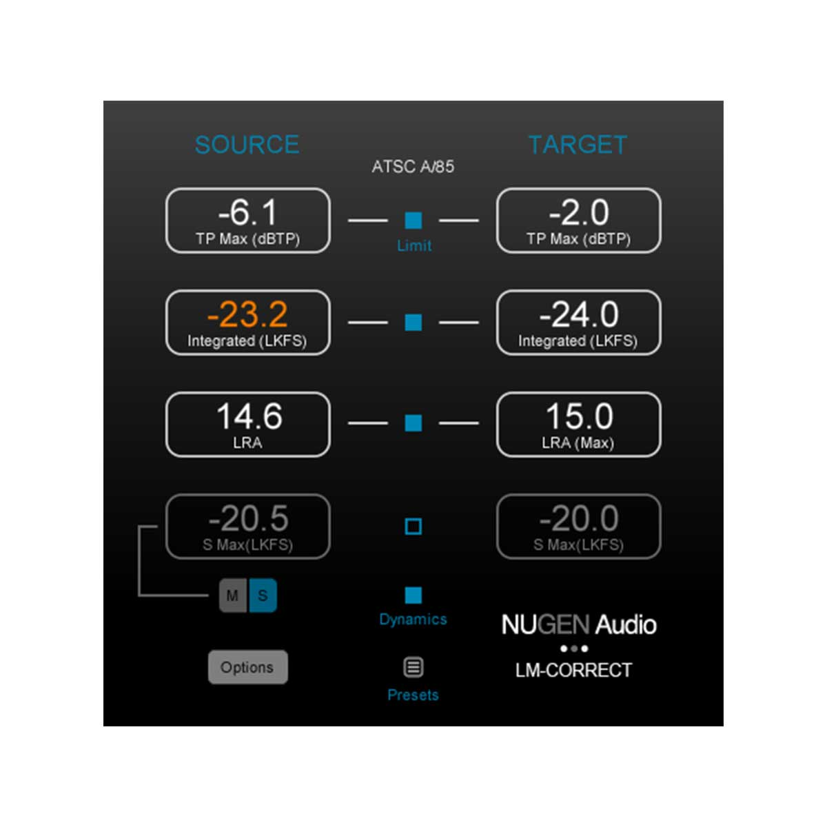 NUGEN Audio Nugen LM-Correct 2 Quick Fix Loudness Compliance