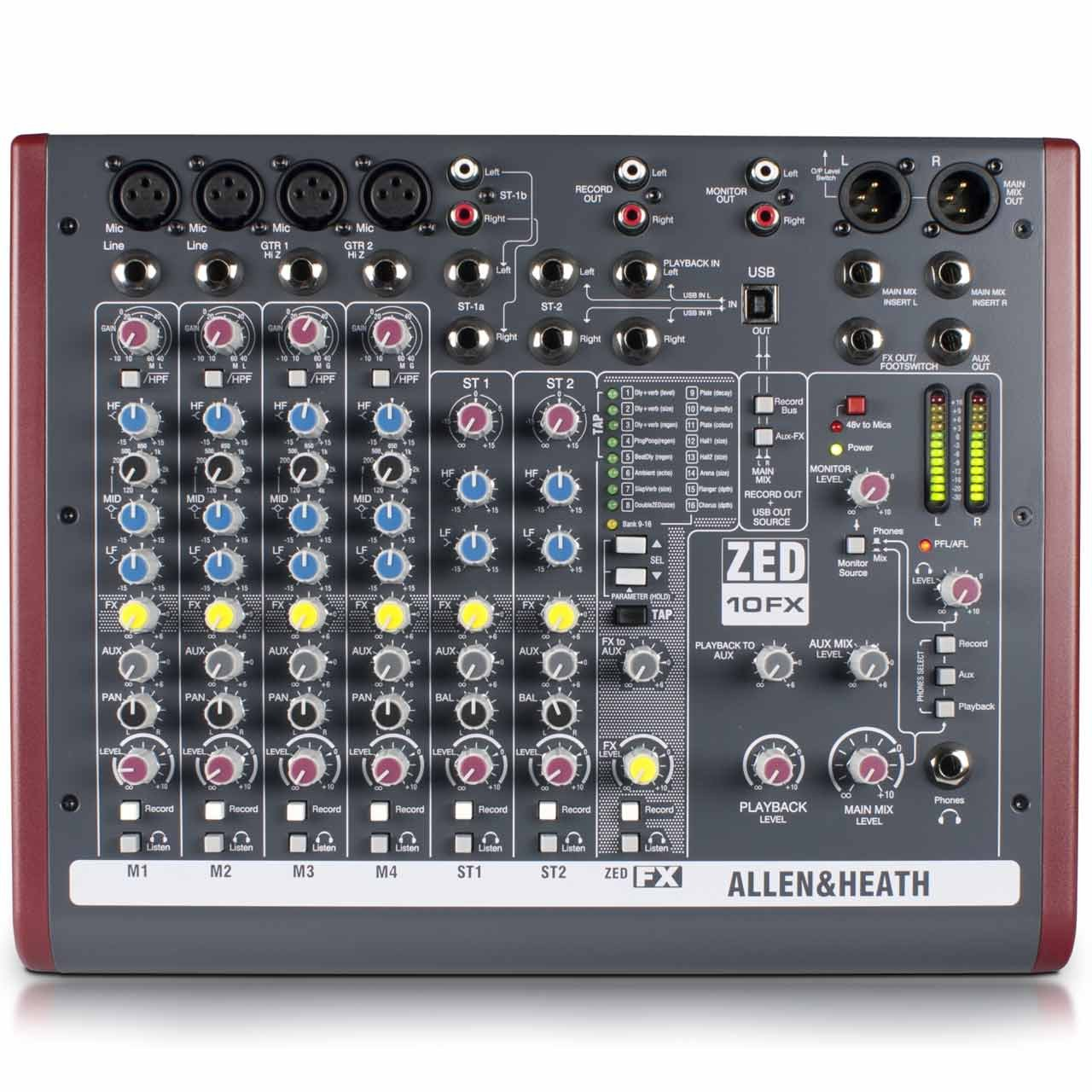 Analog Mixers - Allen & Heath ZED-10FX - Analogue Mixer With USB