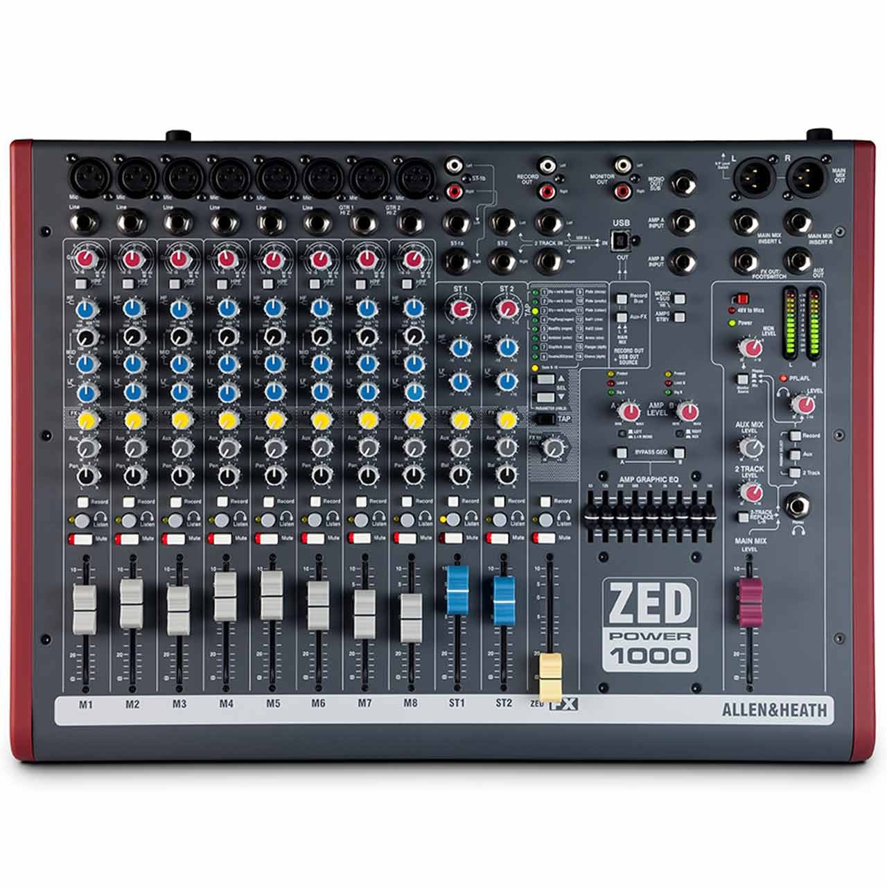 Analog Mixers - Allen & Heath ZED Power 1000 - Powered Analogue Mixer With USB