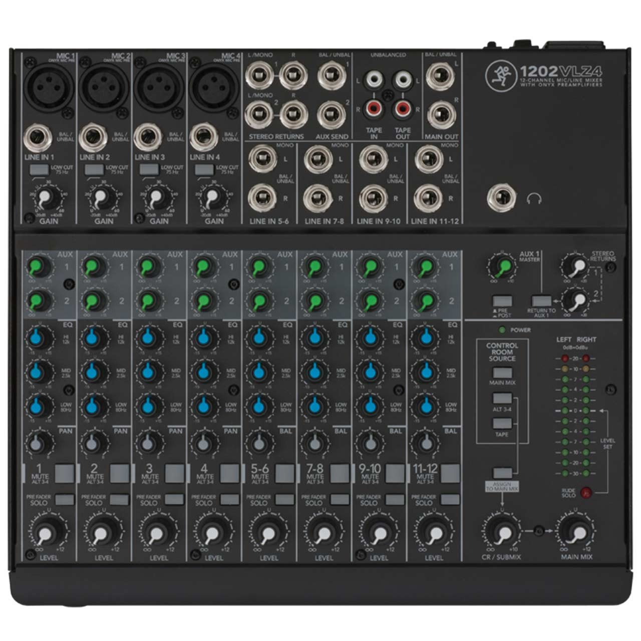 Mackie 1202VLZ4 12 Channel Compact Mixer