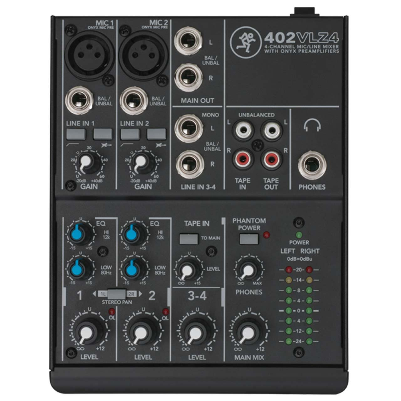 Mackie 402VLZ4 4 Channel Compact Mixer