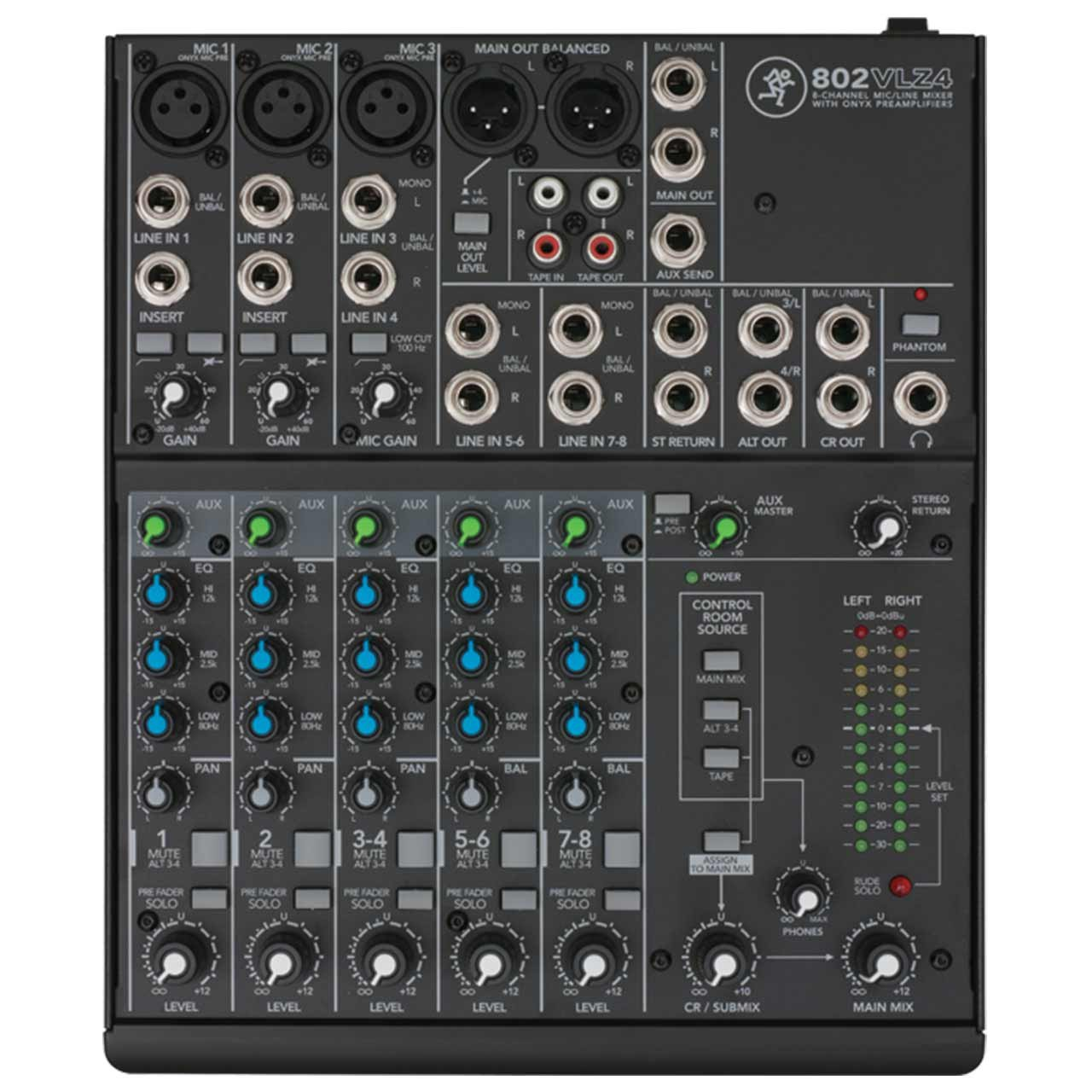 Mackie 802VLZ4 8 Channel Compact Mixer