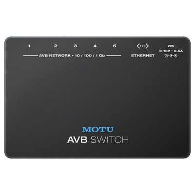 Audio Interface Accessories - MOTU AVB Switch - Five-port AVB Ethernet Switch