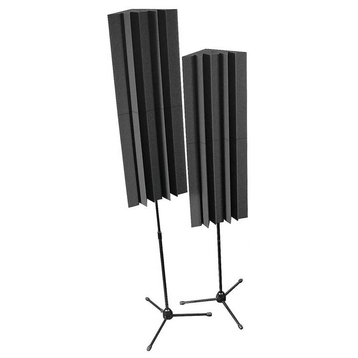 Auralex Lenrd Mounted LENRD Bass traps x 4 (2 stands) - Charcoal
