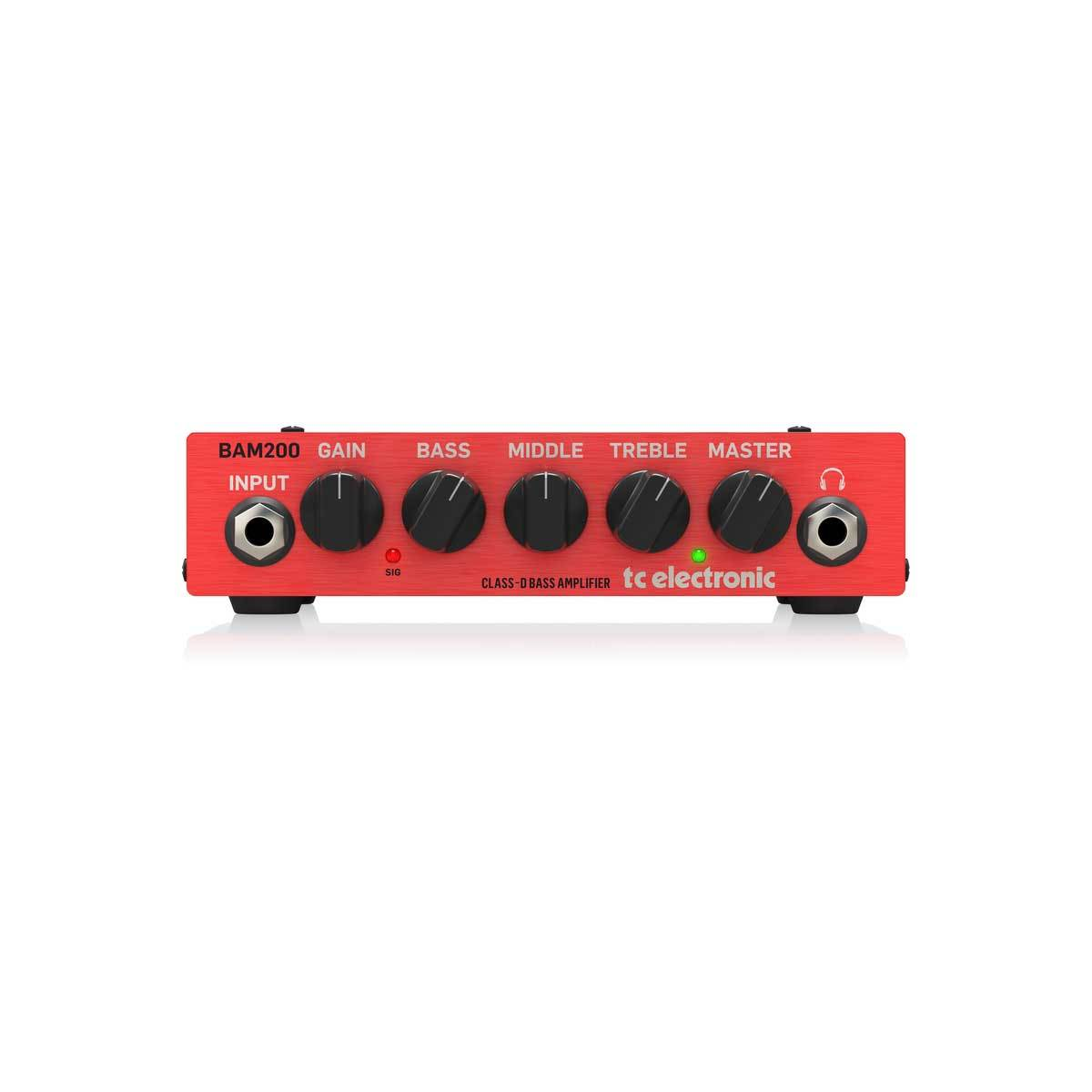Bass Amplifiers - TC Electronic BAM200 - Ultra-Compact 200 Watt Bass Head With Class-D Amp Technology