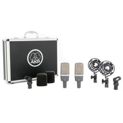 Condenser Microphones - AKG C214 Large-diaphragm Condenser Microphone MATCHED PAIR