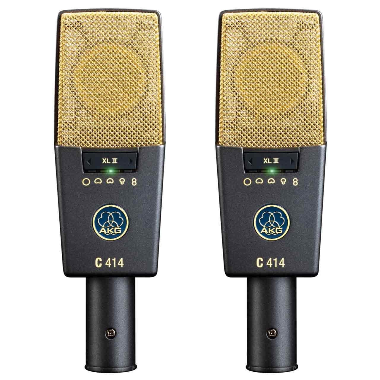 Condenser Microphones - AKG C414 XLII Multi-Pattern Condenser Microphone MATCHED PAIR