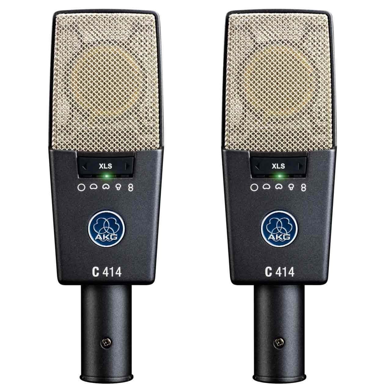 Condenser Microphones - AKG C414 XLS Multipattern Condenser Microphone MATCHED PAIR