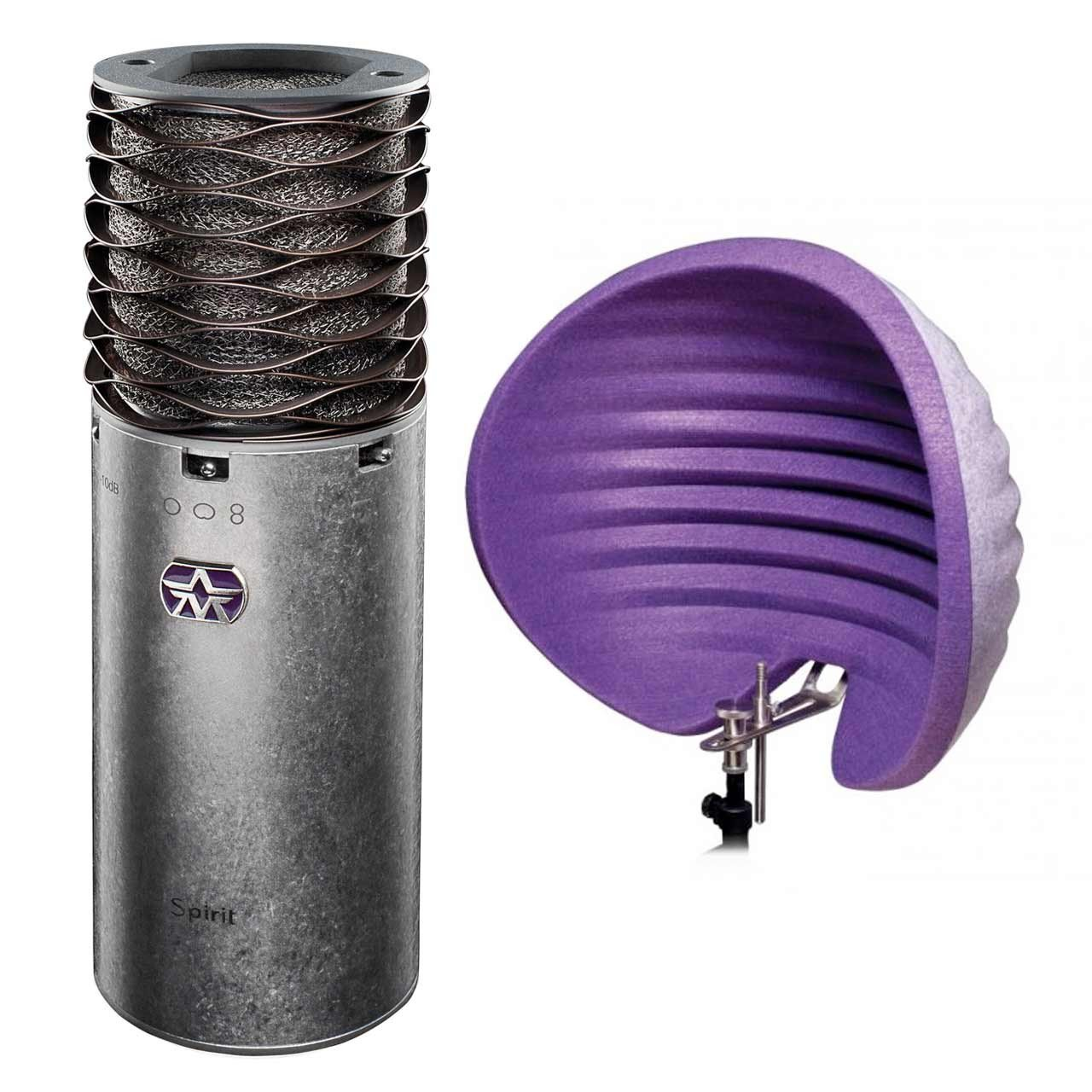Condenser Microphones - Aston Spirit Multi-Pattern Condenser Microphone + Halo Reflection Filter