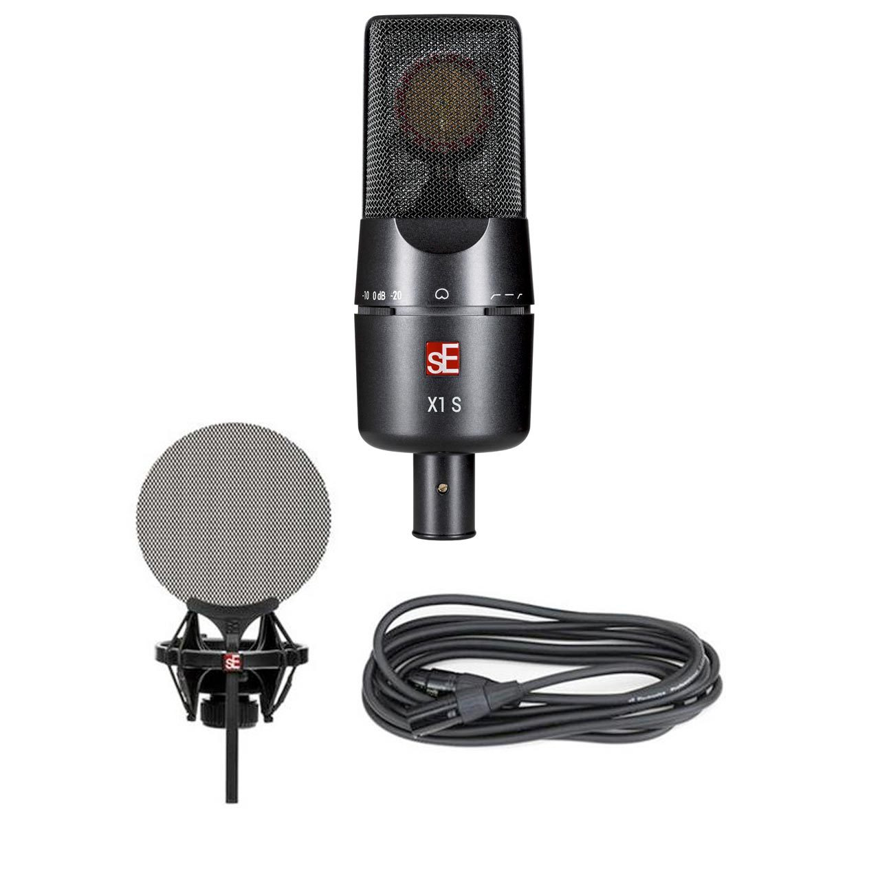 Condenser Microphones - SE Electronics X1S Vocal Pack - Microphone, Shock Mount, Pop Filter & Cable