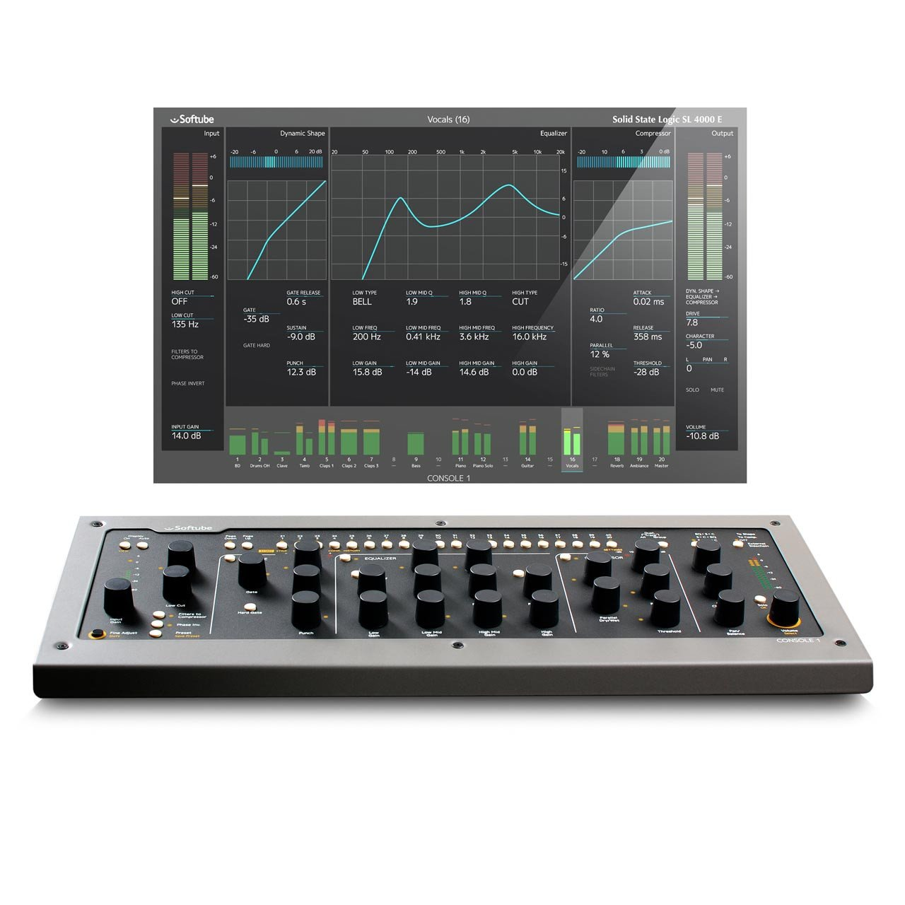 Softube Console 1 MKII - Integrated Hardware/Software Mixer