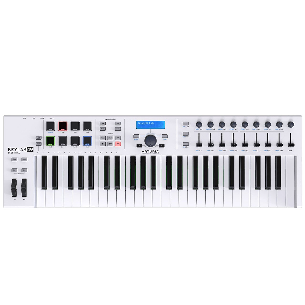 Controller Keyboards - Arturia KeyLab Essential 49 Semi-Weighted USB MIDI Controller Keyboard