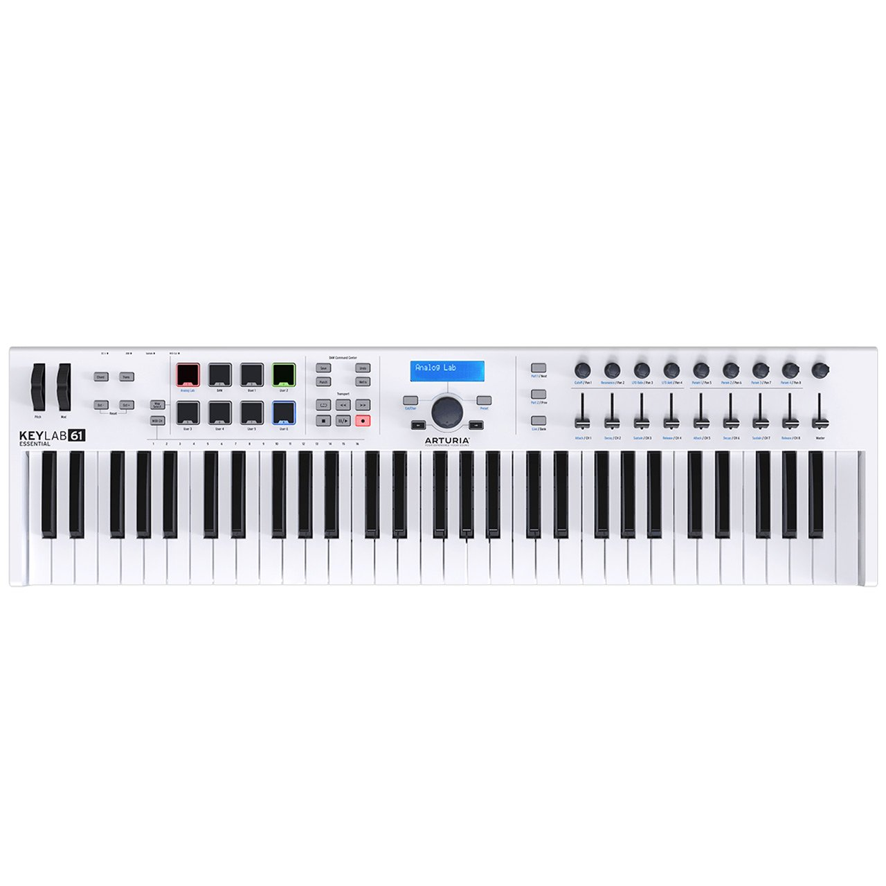 Controller Keyboards - Arturia KeyLab Essential 61 Semi-Weighted USB MIDI Controller Keyboard