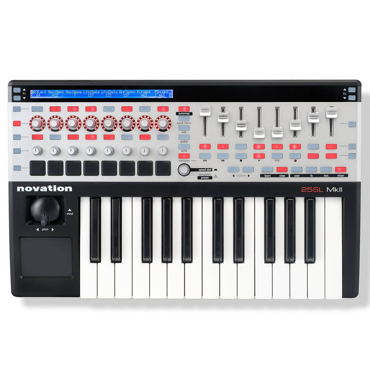 Novation 25 SL MKII MIDI Controller Keyboard with Automap