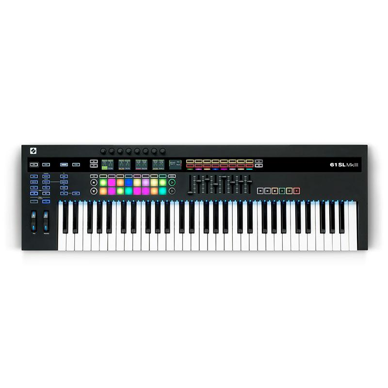 Controller Keyboards - Novation 61 SL MkIII 61-Key Controller Keyboard & 8 Track Sequencer