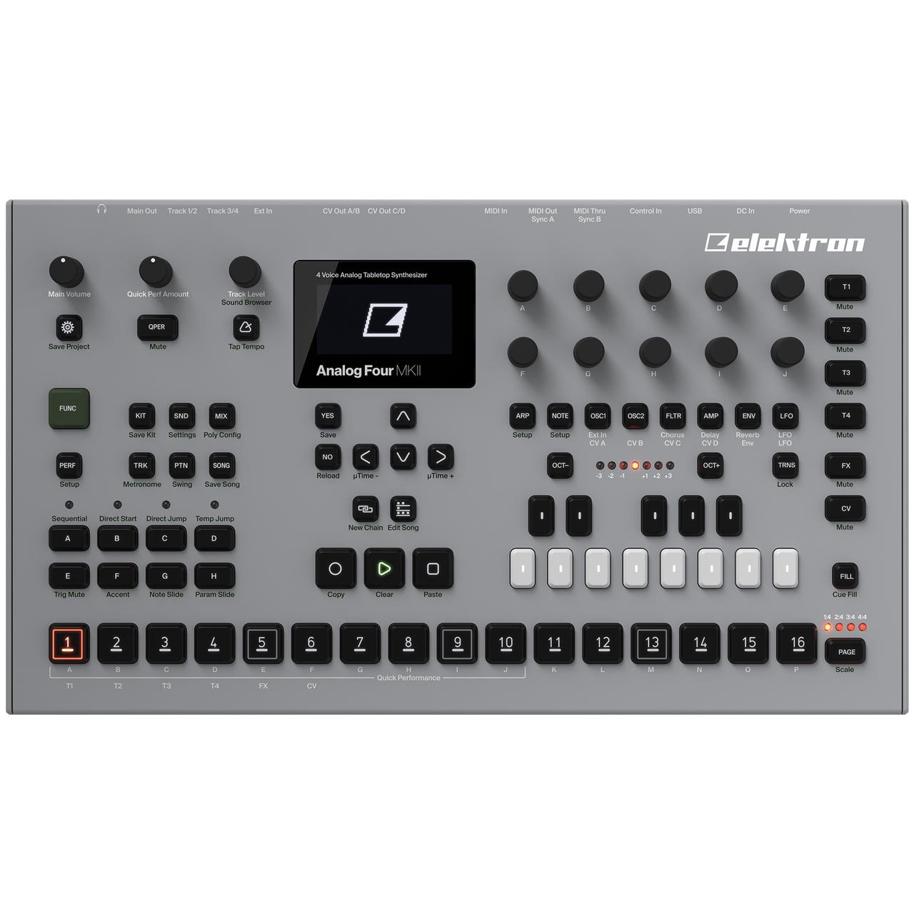 Elektron Analog Four MKII Desktop Analogue Synthesizer - OPEN BOX